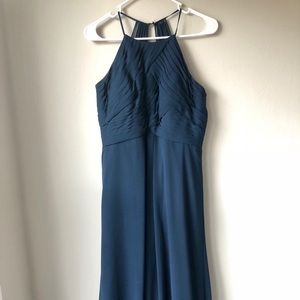 Azazie bridesmaid dress, navy blue